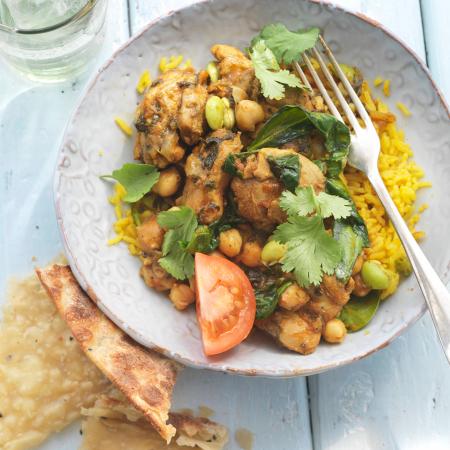Donderdag: snelle curry met kikkererwten