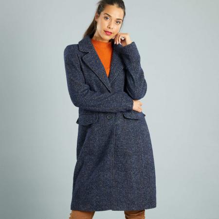 Manteau style lainage chiné