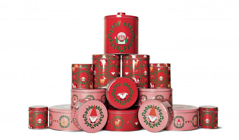 Boîtes à motifs de Noël