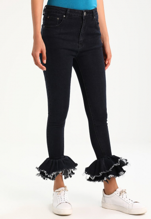 Ruffle jeans