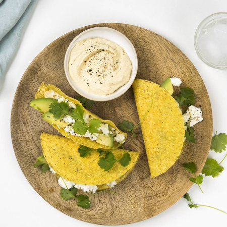 Woensdag: Taco's met feta, hummus en avocado