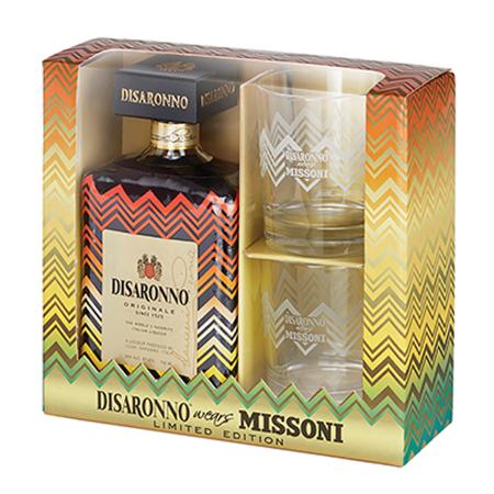 Giftbox Disaronno wears Missoni