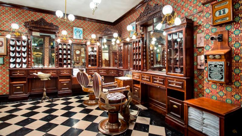Un coiffeur vintage