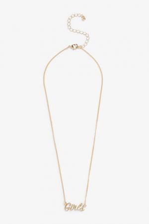 Goudkleurige halsketting met opschrift 'Girls'