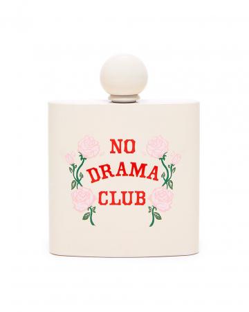 Zakfles met opschrift 'No Drama Club'