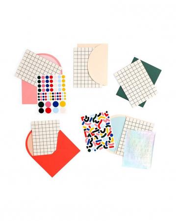 Set van DIY-wenskaarten