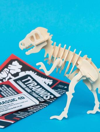 4D-puzzel van een tyrannosaurus rex