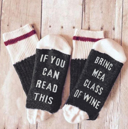 Chaussettes 'Bring Me Wine'