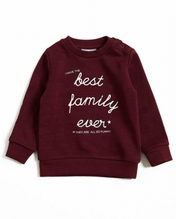 """Sweat bordeaux """"I have the best family ever"""""""