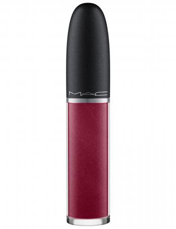 Retro Matte Liquid Lipcolour Metallics in de tint 'Crowned' van MAC Cosmetics