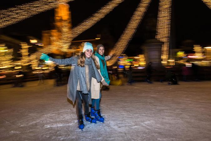 Faire du patin à glace sur la Groenplaats