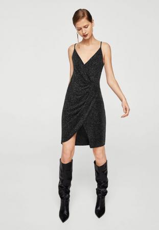 Slip dress pailletée noire