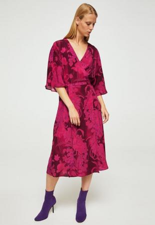 Robe façon kimono avec motif floral