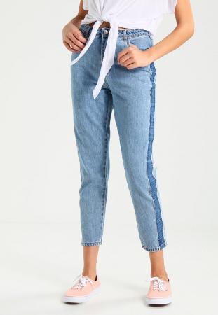 Mei: jeansbroek in twee tinten