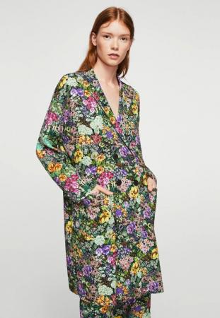 Manteau classique à impression florale