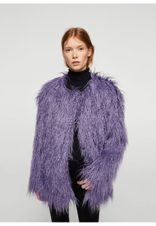 Manteau «fluffy» violet