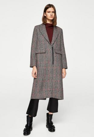 Manteau classique à imprimé Prince de Galles