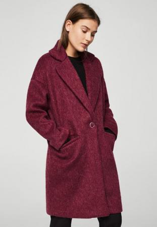 Manteau classique bordeaux