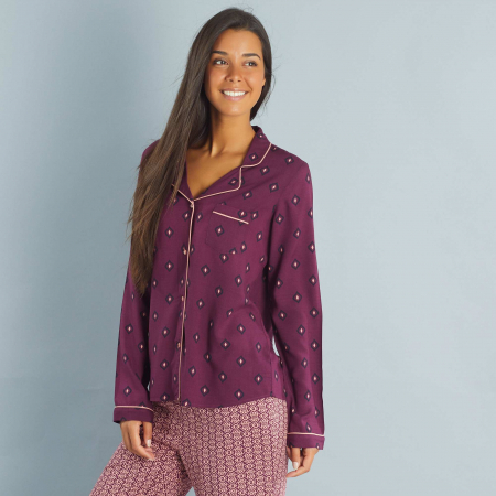 Chemise de pyjama violette