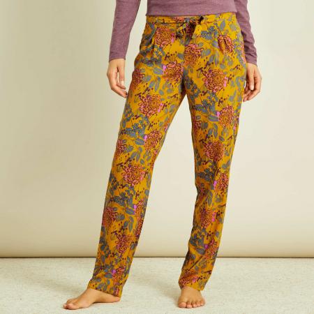 Pantalon de pyjama à motif floral