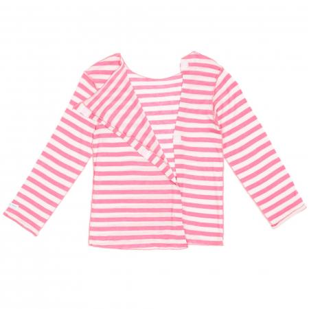 T-shirt rayé rose et blanc