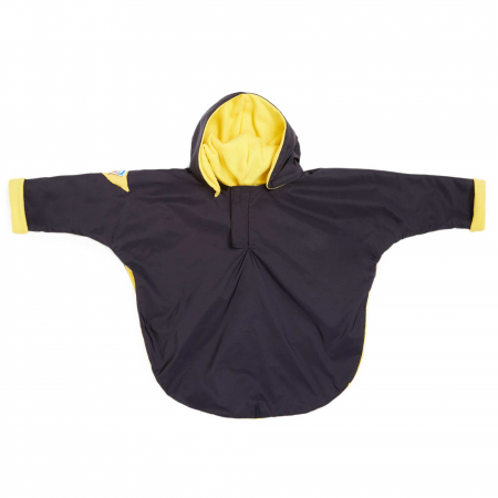 Cape coupe-vent noire et jaune