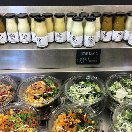 Salade met geitenkaas en vers fruit – Fruxino, Antwerpen