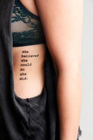 Ces jolis tattoos pour les côtes