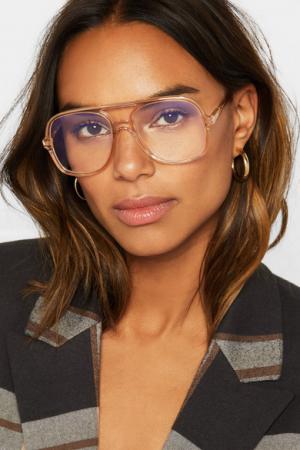 Perzikkleurige pilotenbril