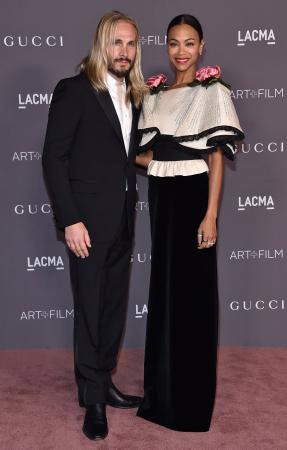 Marco Perego (38) en Zoe Saldana (39)