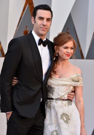 Sacha Baron Cohen (46) en Isla Fischer (42)