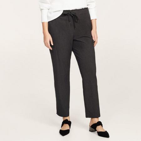 Pantalon avec fines rayures verticules