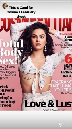 Cami for Cosmo's February shoot