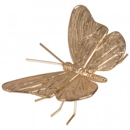 Statuette papillon en métal doré