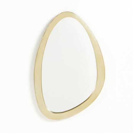 Miroir asymétrique avec contour laiton