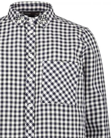 Robe chemise à imprimé vichy