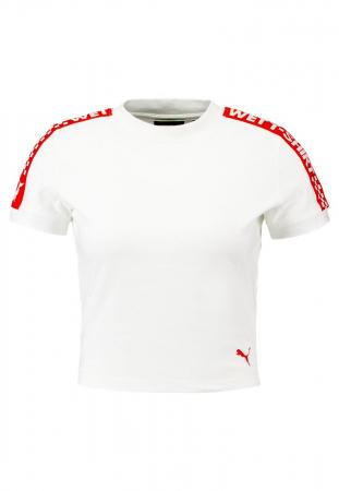 T-shirt cropped blanc