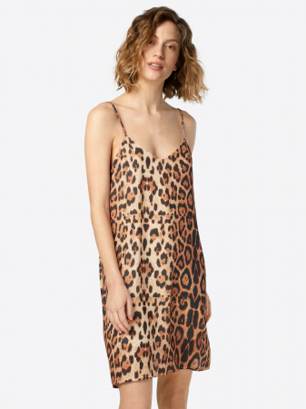 Slip dress léopard