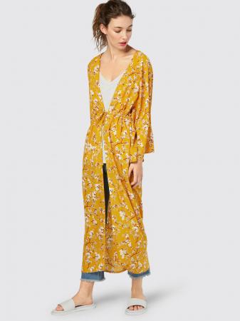 Kimono fleuri jaune