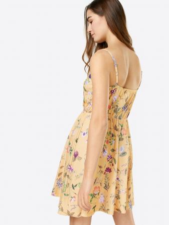 Robe jaune fleurie