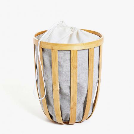 Panier à linge en bambou avec sac