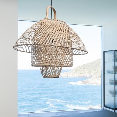 Luminaire à suspendre en bambou