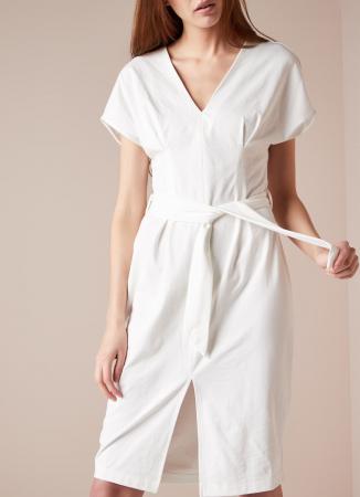 Midi-jurk met split