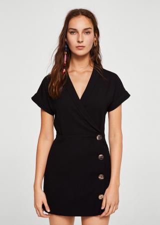 Korte jurk met knopen