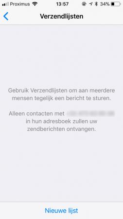 Verstuur hetzelfde bericht naar meerdere contacten