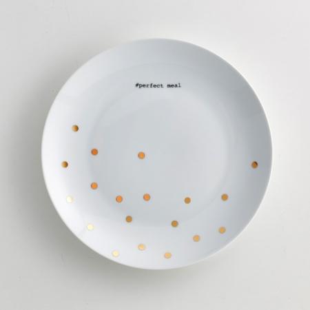 Plat bord in porselein (set van 4)