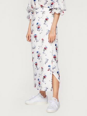 Jupe longue à motif floral