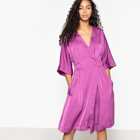 Robe portefeuille violette