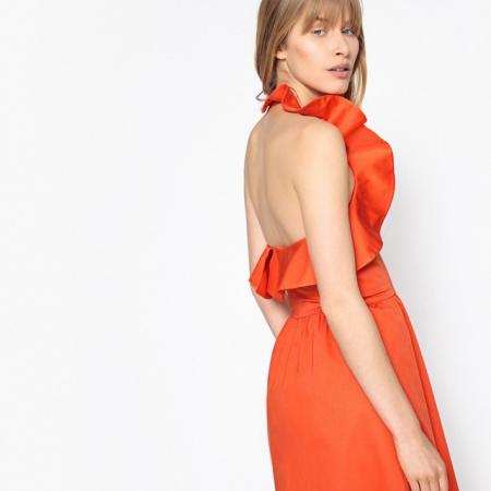 Robe dos nu orange