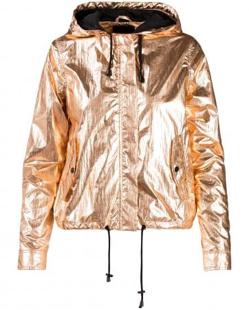 Lichte jas met goudkleurige coating